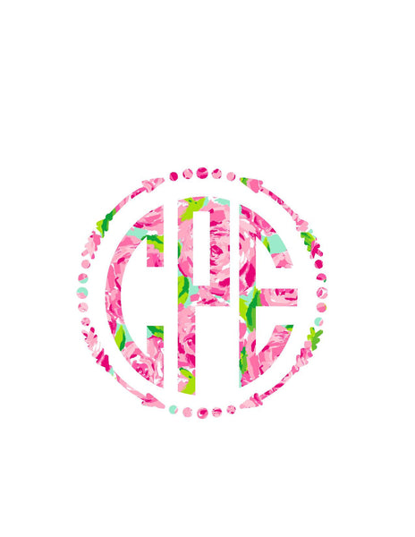 Lilly Pulitzer Arrow Monogram Decal