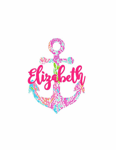 Lilly Pulitzer Anchor Monogram Decal
