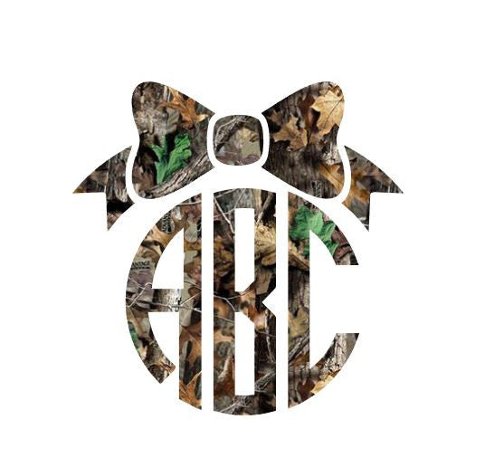 Camo Monogram with Bow