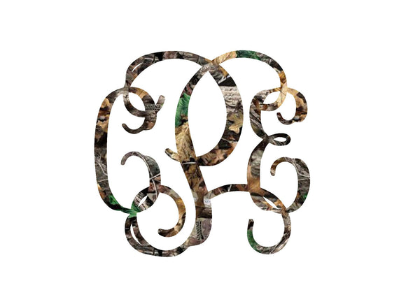 Camouflage Monogram Decal