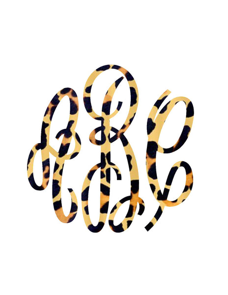 Cheetah Monogram Decal