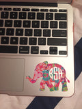 Elephant Monogram Lilly Pulitzer Decal