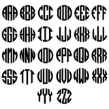 Preppy Pattern Inspired - Fitbit Flex Monogram Decal Fitbit Charge Monogram Decal - Set of 4 - Workout - Preppy