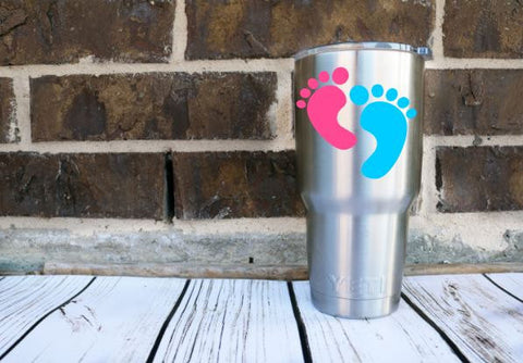 Baby Feet Decal Sticker - Perfect for Yeti, Laptop, Car, Binder, Tumbler, And More!! NICU Labor Nurse - Baby On Board - Mommy