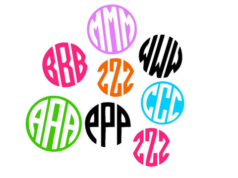 "99 CENT 2"" Monogram  Decal - Sale Decal - 2"" Monogram Decal 