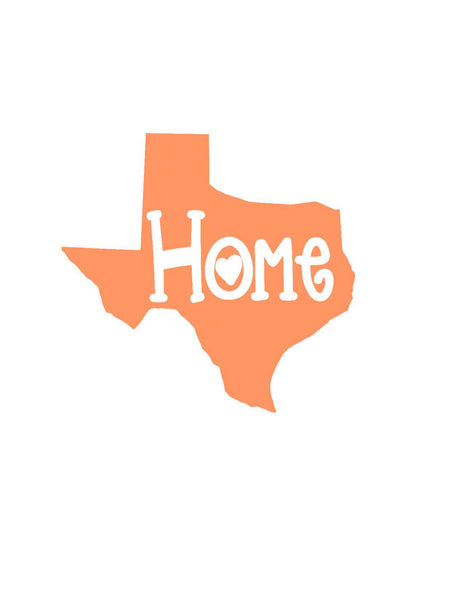 State Home Decal, State Car Decal, State Pride Decal, Home State Sticker, Any Color, Any State, Texas Decal, Louisiana Decal