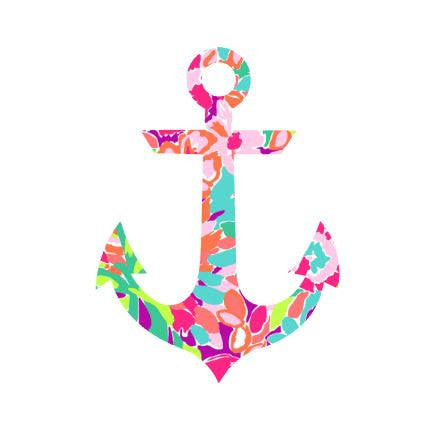 Anchor Lilly Pulitzer  Decal