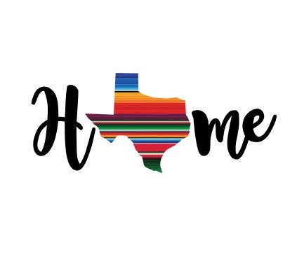 Serape Pattern State Home Decal Texas -  Any State, Sticker,  Car decal,  Yeti decal Custom Decal - Texas Girl - Texas Pride - State Decal