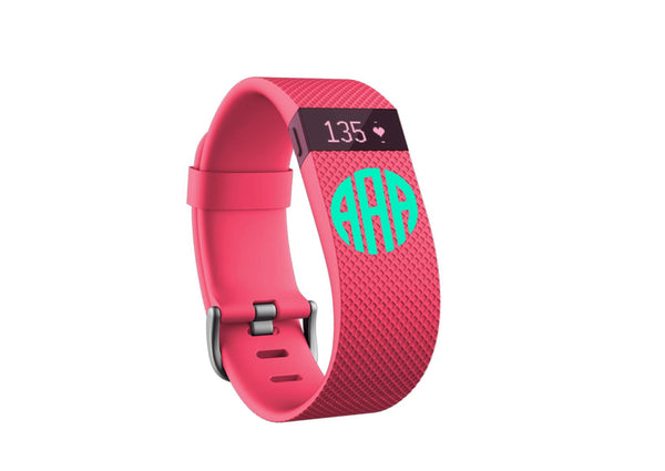 Fitbit Flex Monogram Decal Fitbit Charge Monogram Decal - Set of 3 - Workout - Any Color - Workout Decal - Workout Monogram - Flex - Charge