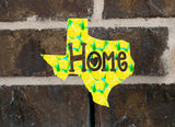 Preppy Pattern State Home Decal, State Car Decal, State Pride Decal, Home State Sticker, Any Color, Any State, Texas Decal, Louisiana Decal