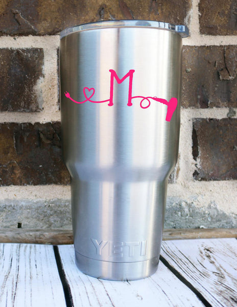 Hair Stylist Decal Letter  - Initial Decal - Cosmetology Decal - Makeup Artist Decal - Hair Decal - Mirror Decal - Monogram Beauty