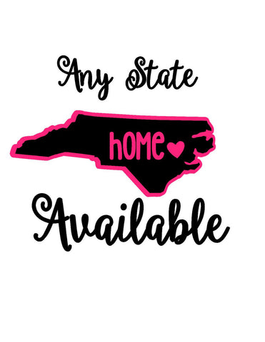 ANY STATE Deca - Home State Love - State Sticker - Home State Decal - Car Decal - State Decal - Tumbler Decal - Phone Deal - Home Heart