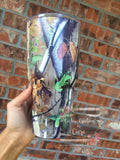 Stainless Camoflauge Tumbler, Camo Tumbler, 30oz Colored Tumbler, Monogram Tumbler, Custom Cup, Dad Gift, Cup Monogram, Manly Cup