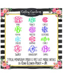 Pig Monogram Decal Lilly |  Lilly Name monogram decal | show pig monogram decal |  Monogram |Car Decal | Vinyl Monogram |Monogram Decal