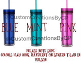 Monogram Skinny Tumbler - 16oz - Perfect Gift for Teachers, Bride, Bridal Party, Kids, Nurses and More!