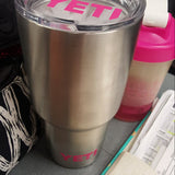 Yeti Lid / Base Decal Yeti Logo for Rambler and Tumbler - Any Color - Glitter - 30oz - 20oz - Lid Base Cup Cover - Logo Cover - Sticker