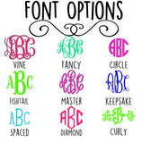 Mason Jar Letter Monogram Decal - Custom Decal - Southern - Heart - Yeti Decal - Car Decal - Any Size - Any Color - Glitter - Custom Sticker
