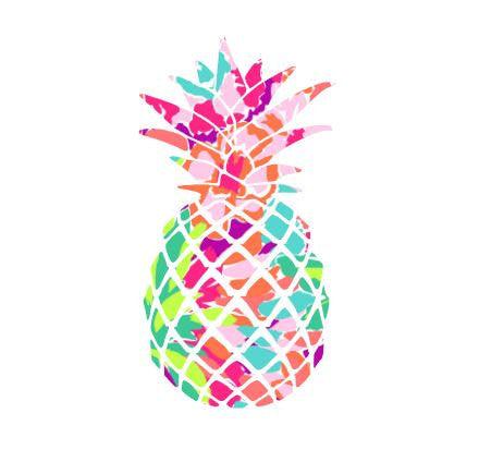 Pineapple Lilly Decal, Lilly Inspired Decal Monogram, Lilly Pulitzer Decal, Lilly car decal, Lilly Pulitzer Yeti Custom Decal