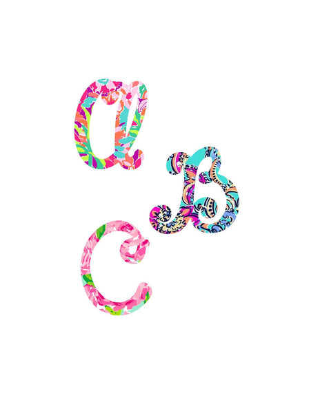 Lilly Pulitzer Inspired Initial Decal