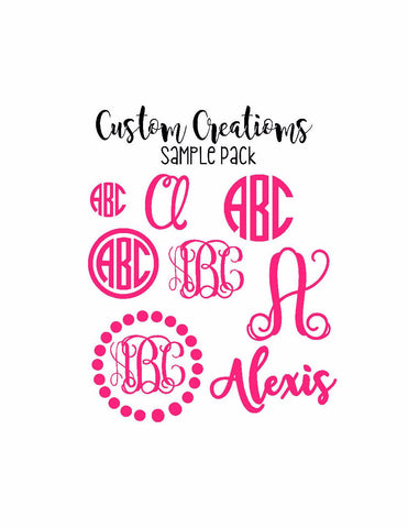 Monogram Decal Pack