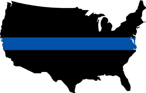 America Thin Blue Line Back The Blue Decal