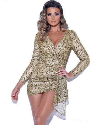Metallic Glitter Dress