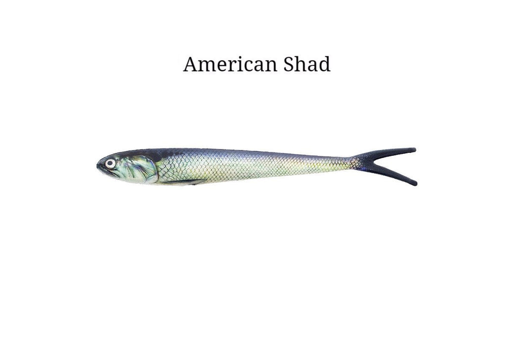 "7"" American Shad realistic soft plastic lure"