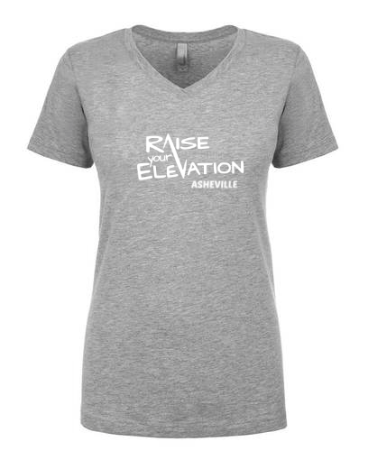 Raise Your Elevation - Asheville - Ladies V-Neck