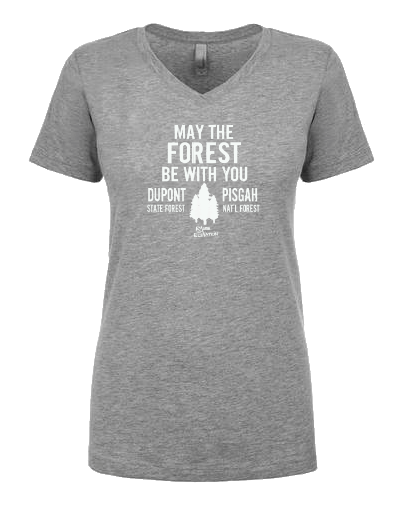 May The FOREST Be With You Ladies V-Neck - CHARITY SHIRT