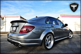 Mercedes C63 Dry Carbon Fiber Flush Mount Trunk Spoiler