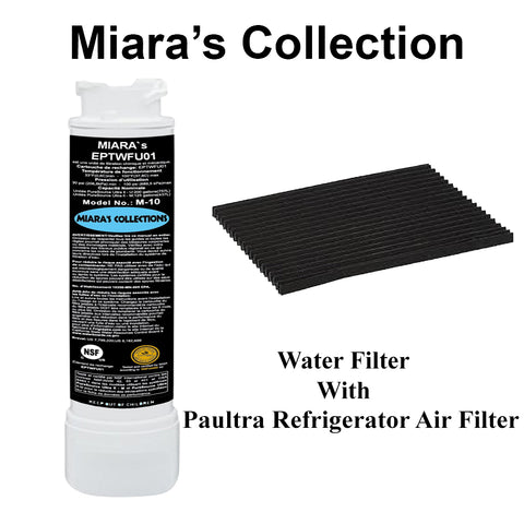 EPTWFU01 Water Filter Replacement With Free Air Filter Refrigerator