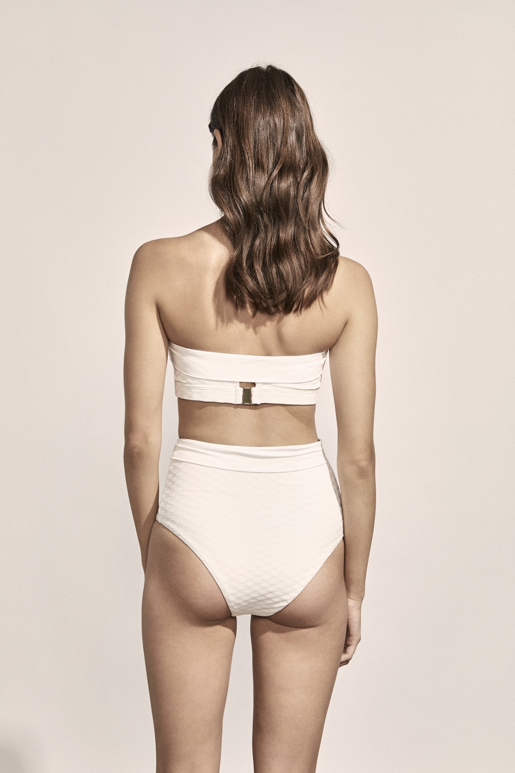 Sabine Bottoms in Ivory Geo Jacquard