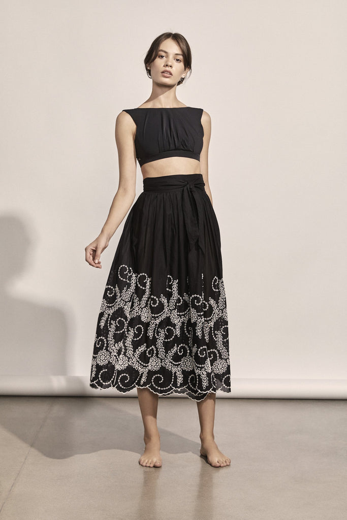 Manet Eyelet Wrap Skirt