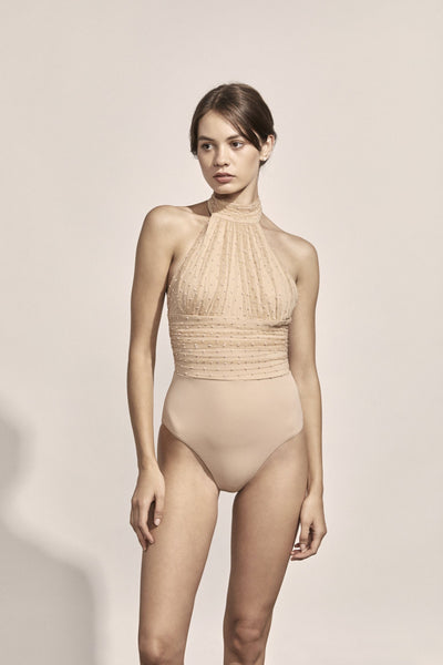 Renée Maillot in Nude Point d'Esprit