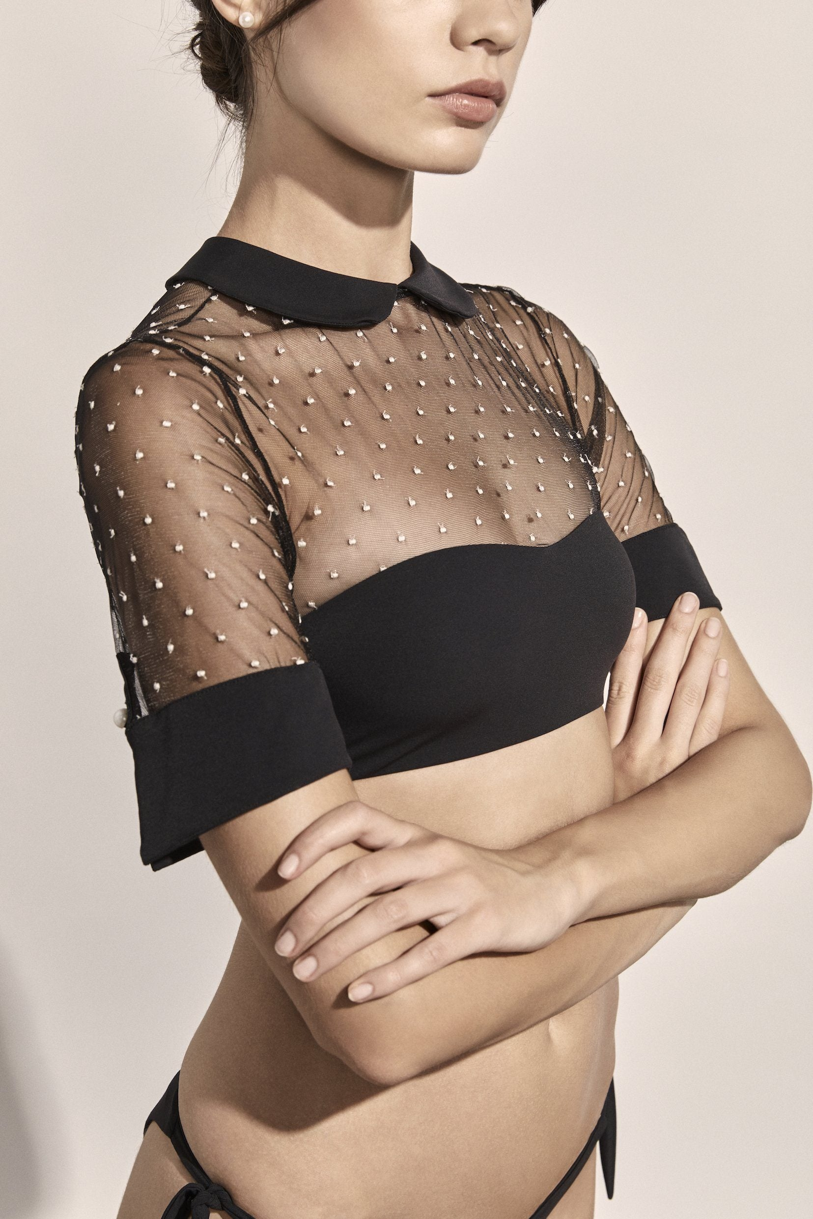 Bella Top - Black & Ivory