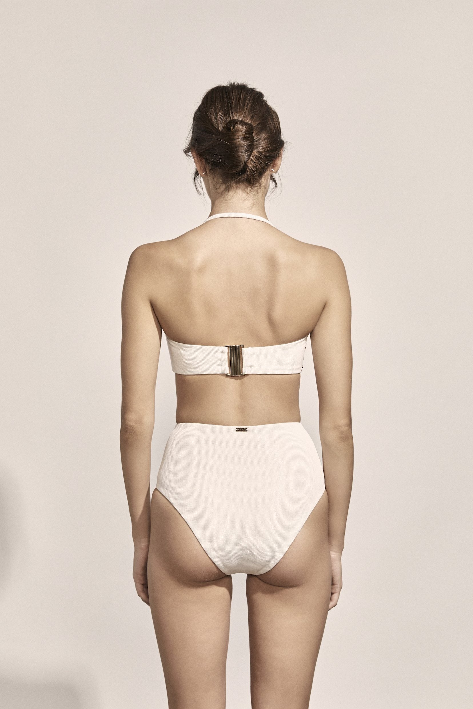 Tallis Bottoms in Ivory Metallic