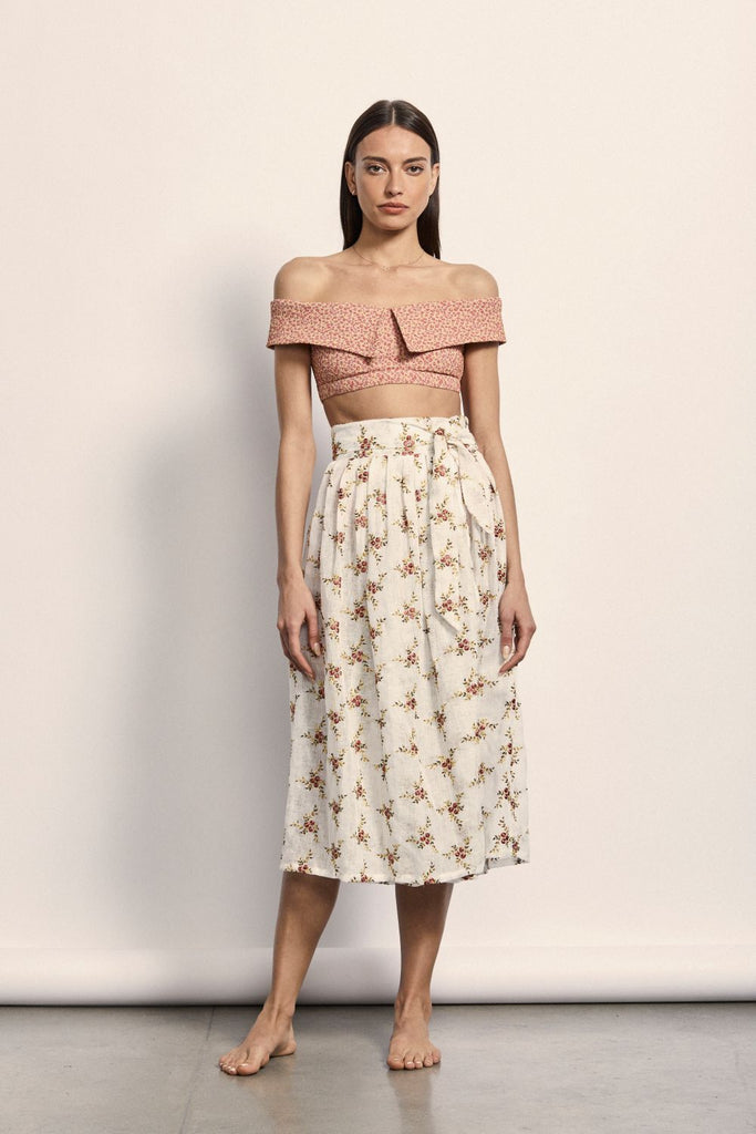 Manet Wrap Skirt - French Linen