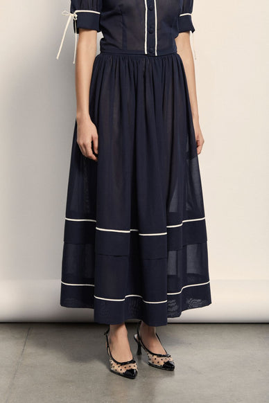 Delphine Skirt - Navy