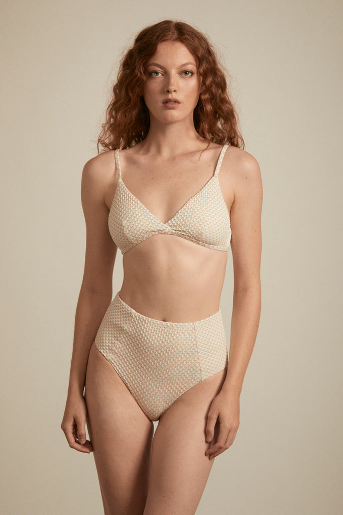 Jolie Bottoms - Metallic Ivory
