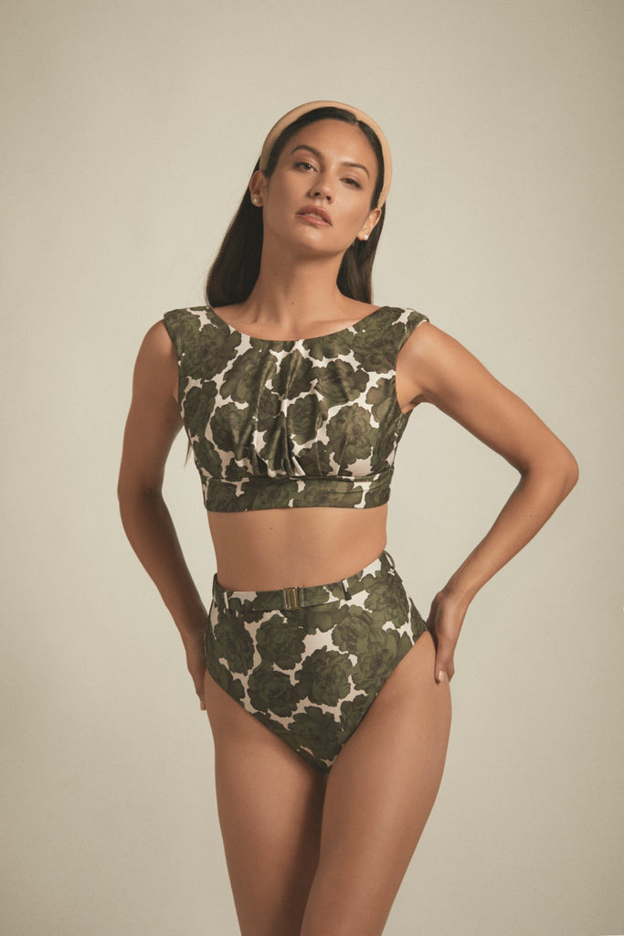 designer-swimwear-green-floral-high-waisted-bikini-bottom