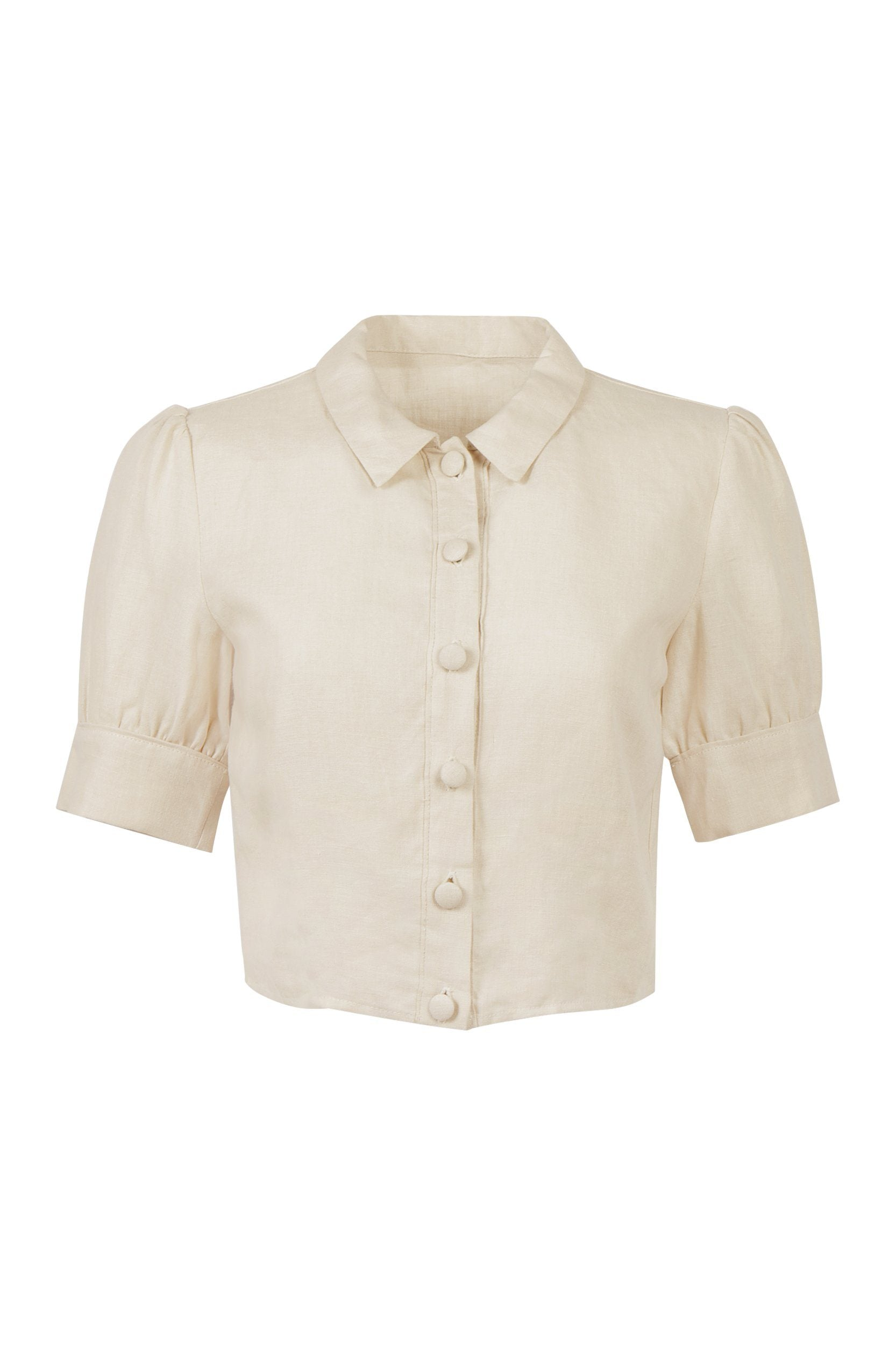 Daphne Top - Natural Linen