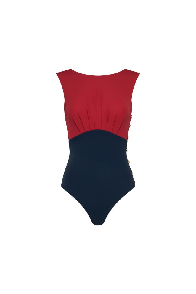 Ophelia Maillot - Rouge & Navy