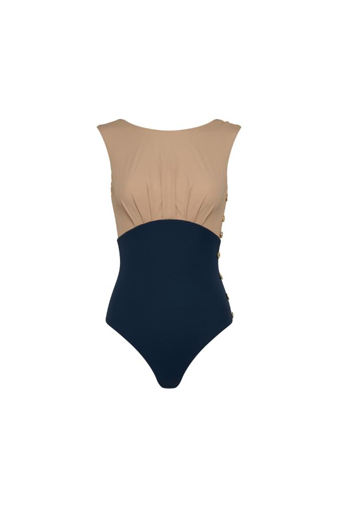 Ophelia Maillot - Nude & Navy