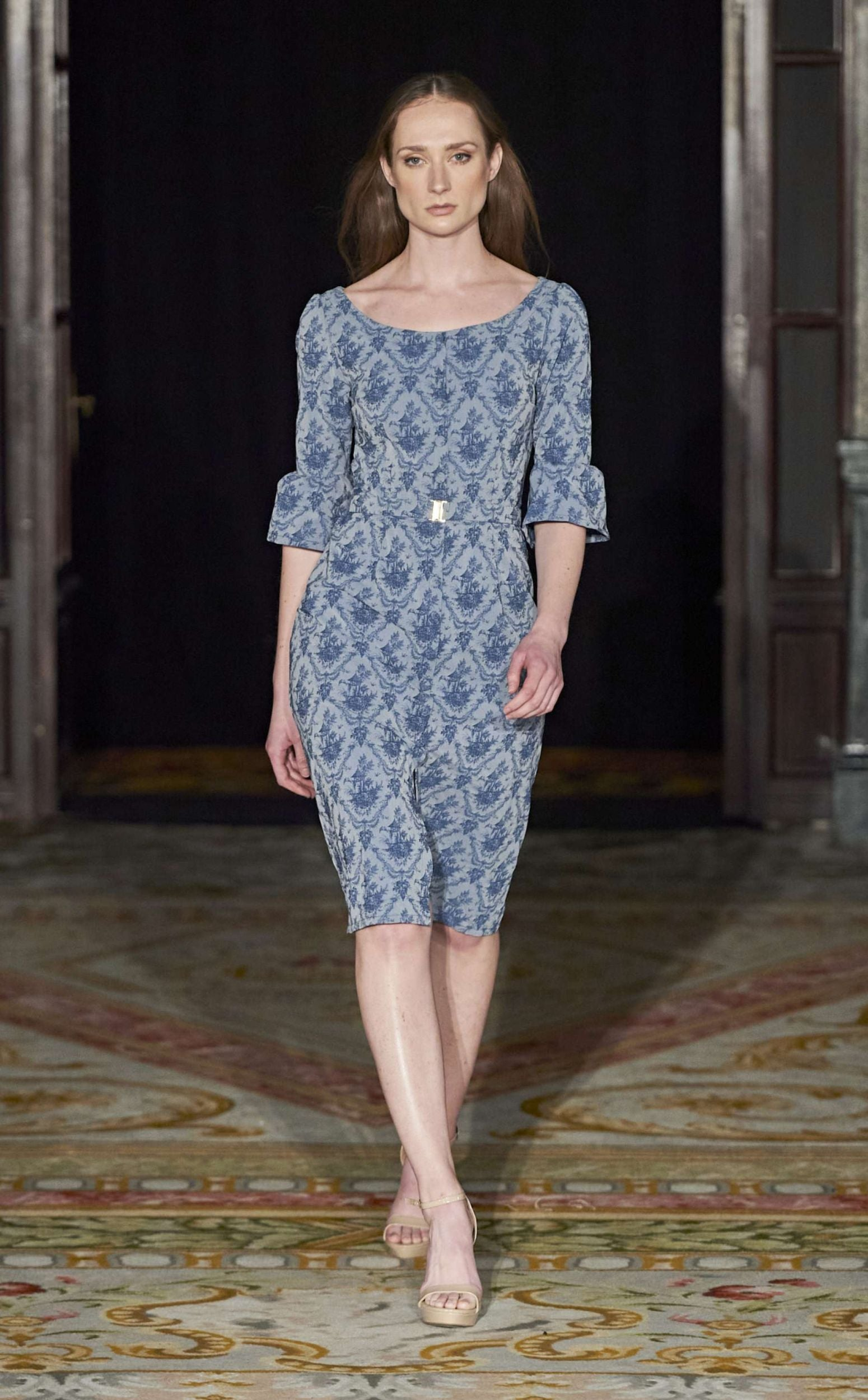 blue-toile-resort-wear-dress