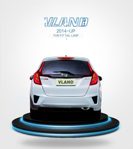 HONDA FIT/JAZZ 2014-UP FARI POSTERIORI A LED BLANCK LENS