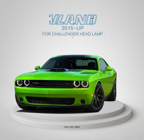DODGE CHALLENGER 2015-UP MODIFIED FARI ANTERIORI A LED Black