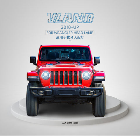 Jeep Wrangler 2018-UP FARI ANTERIORI Black