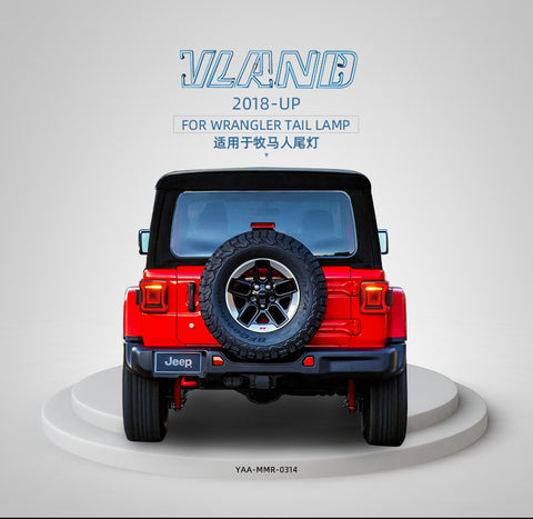 Jeep Wrangler 2018-UP FARI POSTERIORI RED