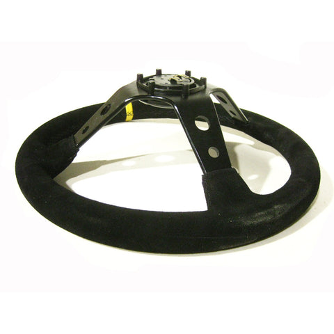 Universal EPR Steering Wheel DRIFT Suede 90mm Dish 35cm