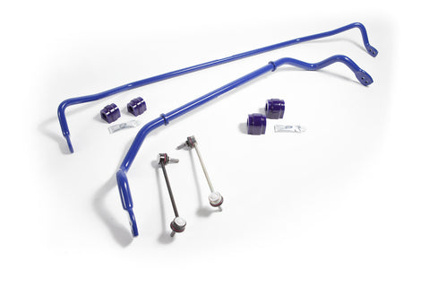SuperPro 27mm Front & 20mm Rear Adj. Sway bar Kit RC0028-KIT for BMW 3 Series E46 E90, E91, E92, & E93 (Excl M3) 05-11
